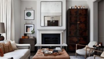 North Kensington family home living room interior design